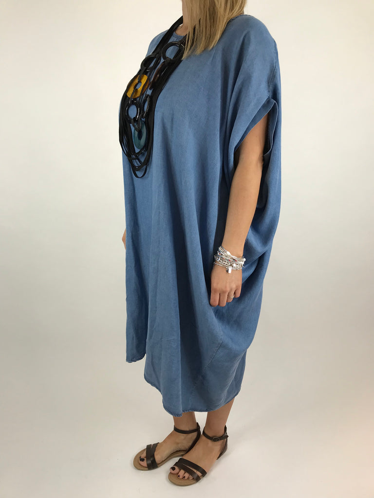 Lagenlook Catria Denim Tunic in Light Denim. code ws1409