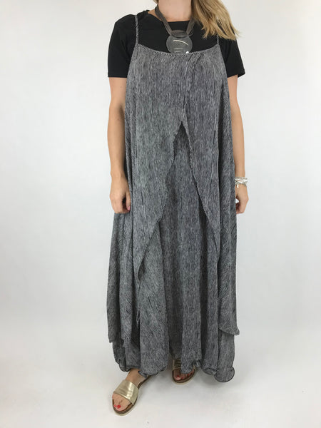 Lagenlook clara Maxi Tunic in Black. code 17552