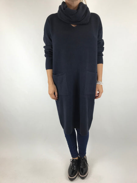 Lagenlook Molly Snood knit in Navy. code 6002