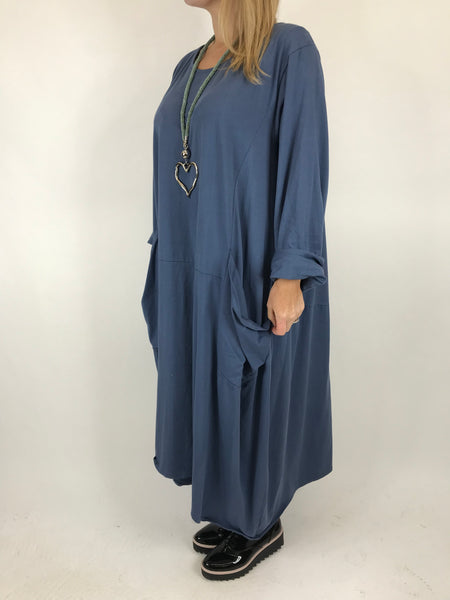 Lagenlook Josie Pocket Tunic in Denim. code 9081