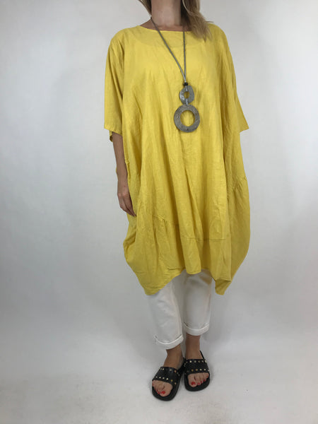 Lagenlook Cocoon Top in Yellow. code 5808