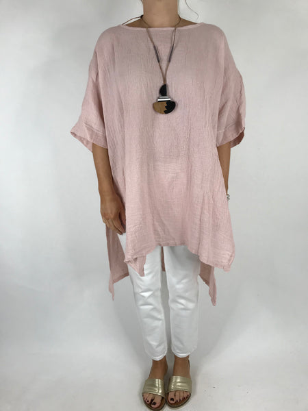 Lagenlook Alto Linen Top in Pink. code 5773