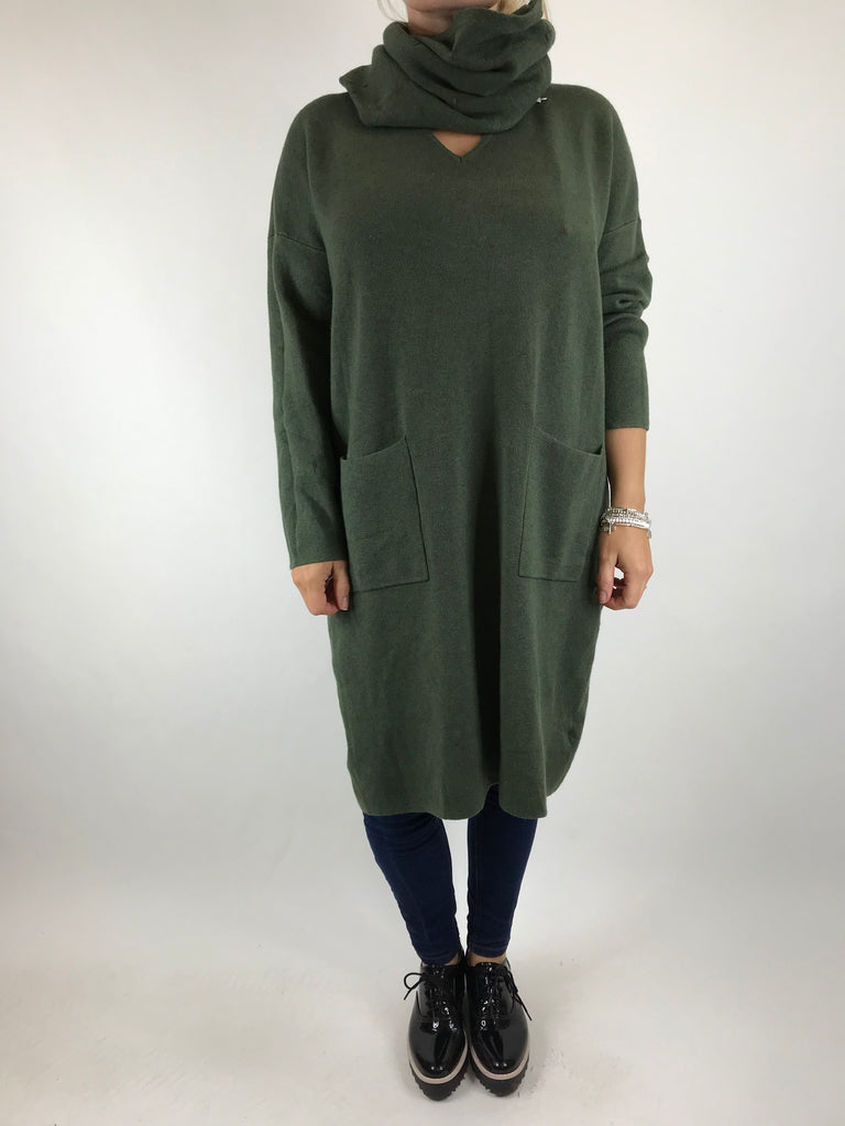 Lagenlook Molly Snood knit in Khaki. code 6002