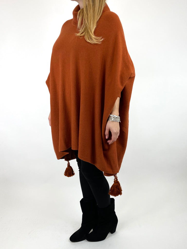 Lagenlook Melody Oversized Jumper in Rust. code 2692 - Lagenlook Clothing UK