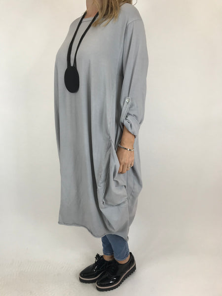 Lagenlook Alicia Pocket Tunic in Grey.code 5626