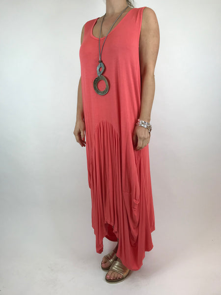 Lagenlook Molly Jersey Essential in Coral. code 9873