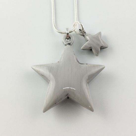 Lagenlook Resin Star Mini Me Necklace .code 61576N