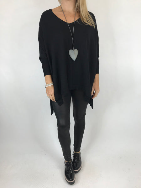 Lagenlook Clare Jumper In Black. code 00001