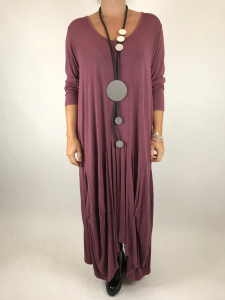 Lagenlook Misha Long Sleeve Jersey in Aubergine . code 98731