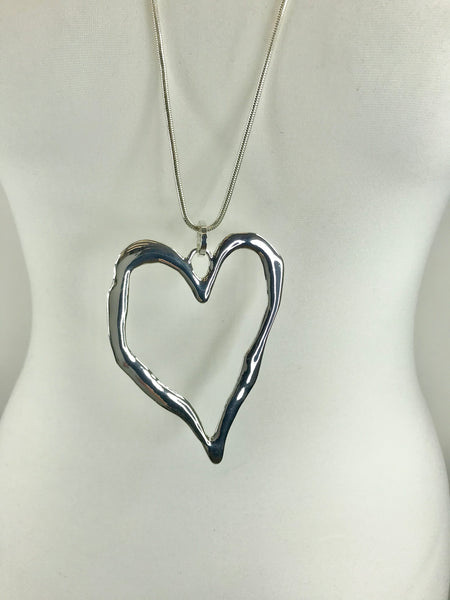 Lagenlook Heart Necklace . Code N4400 - Lagenlook Clothing UK