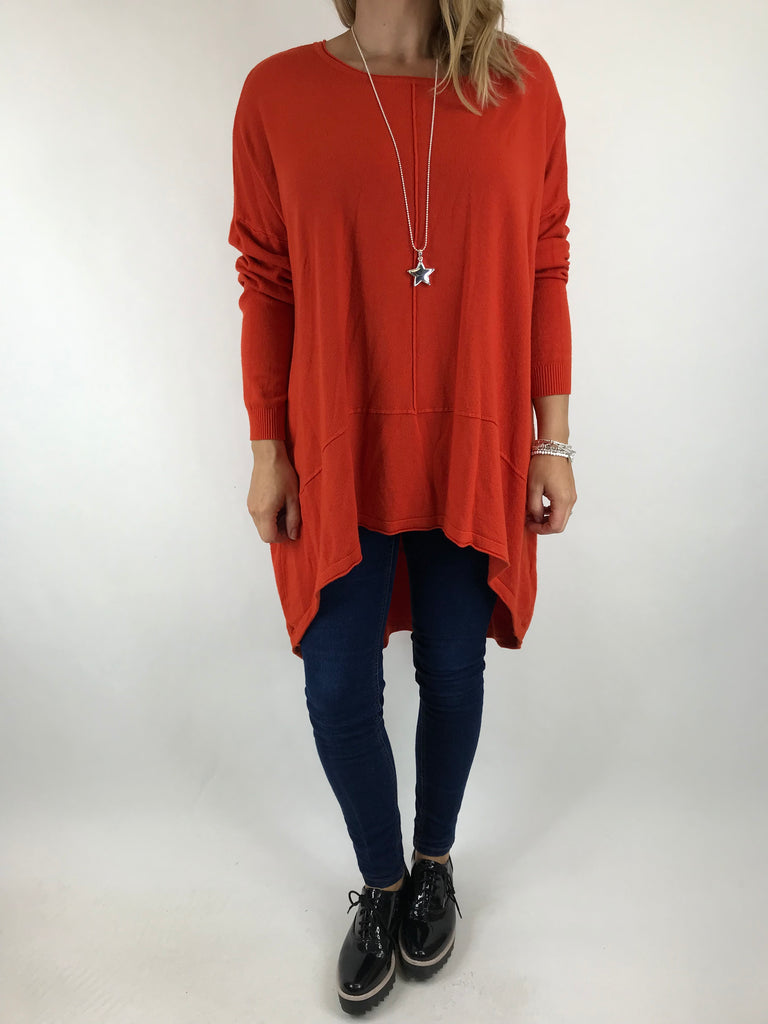 Lagenlook Millington knit in Orange. code 5977