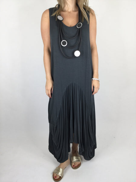 Lagenlook Molly Jersey Essential in Charcoal Grey . code 9873