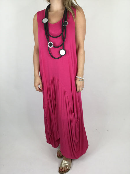 Lagenlook Molly Jersey Essential in Fuchsia Pink . code 9873