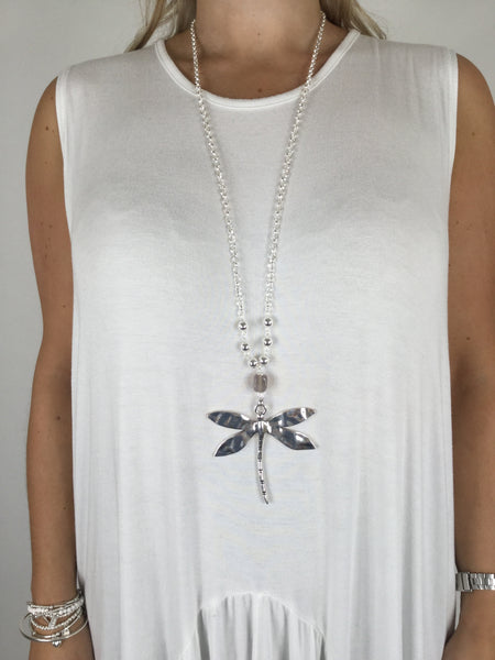 Lagenlook Dragonfly Necklace .code r005