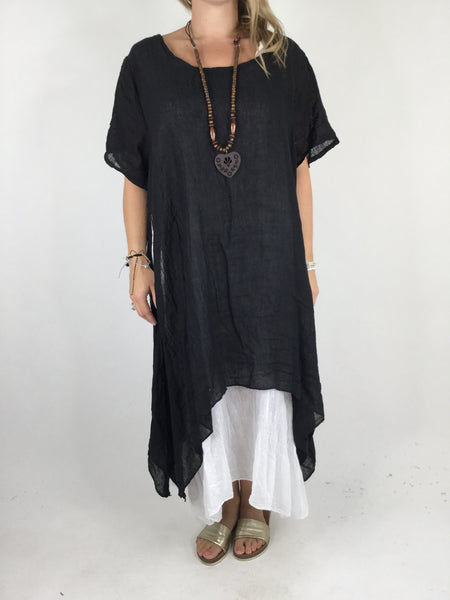 Lagenlook Audrey Necklace Double Layer Tunic in Black. code 4276