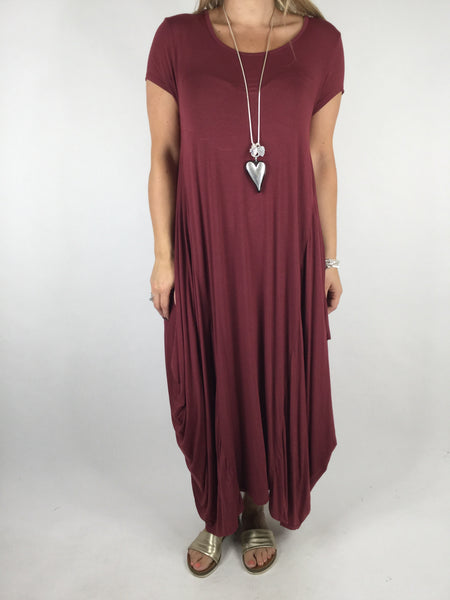 Lagenlook Moda Jersey Tunic in Wine . Code 1770