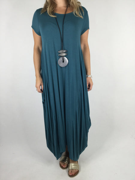 Lagenlook Moda Jersey Tunic in Teal. Code 1770