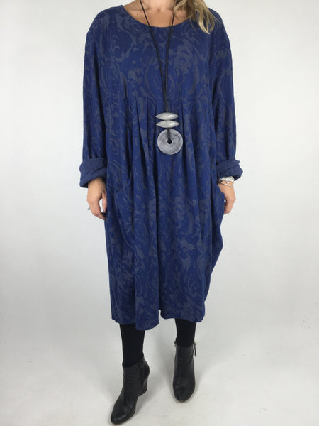 Lagenlook Baroness Tunic In Royal blue. code 4712