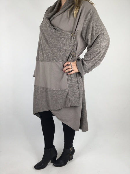 Lagenlook Baro Quirky Cardigan in Mocha. code 4711