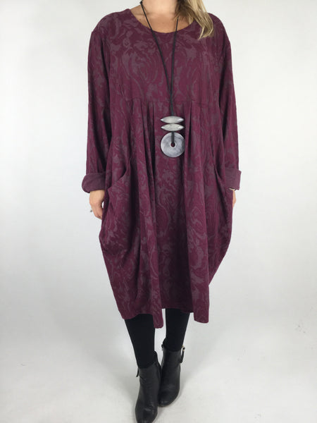 Lagenlook Baroness Tunic In Wine . code 4712