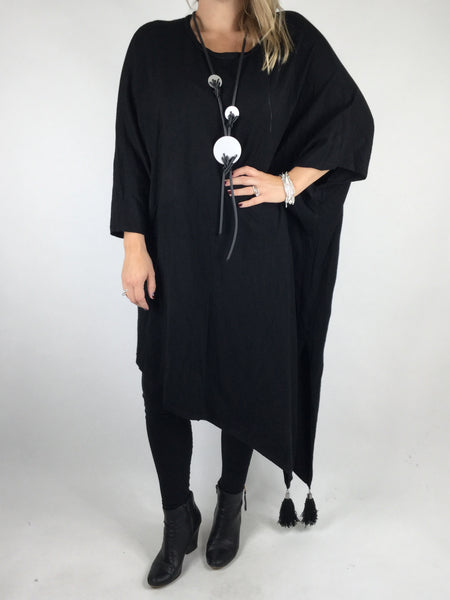 Lagenlook Iris Oversized Knit in Black. code 4699