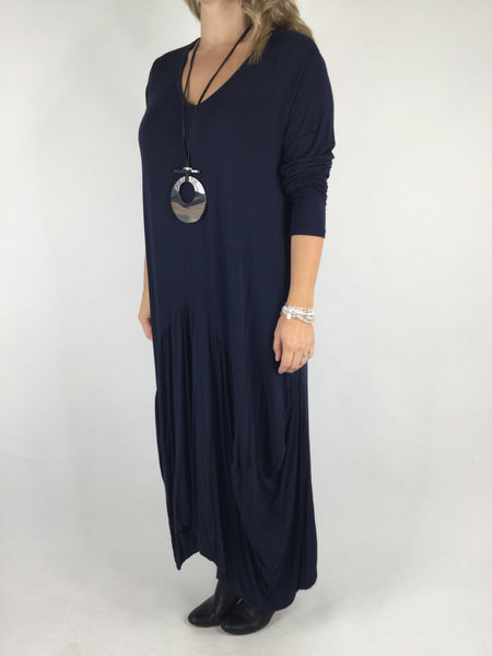Lagenlook Misha Long Sleeve Jersey in Navy. code 98731