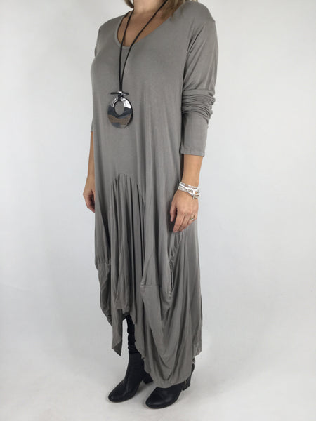 Lagenlook Misha Long Sleeve Jersey in Mocha. code 98731