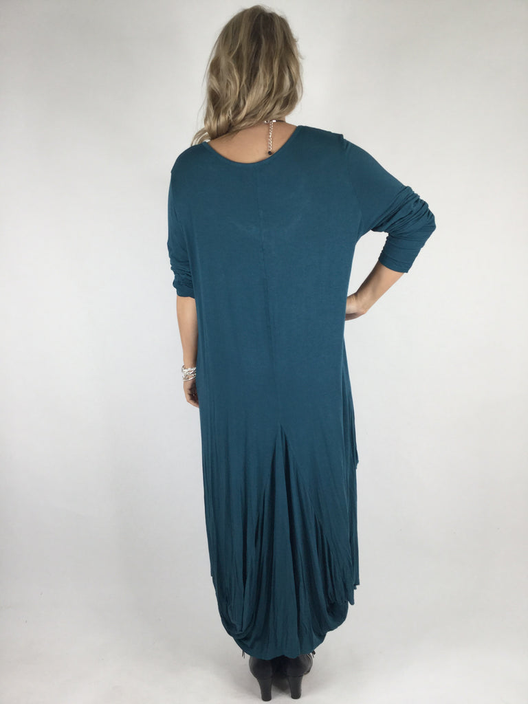 Lagenlook Misha Long Sleeve Jersey in Teal. code 98731
