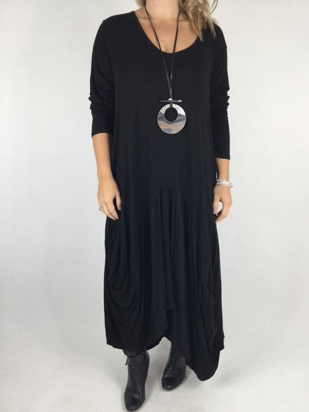 Lagenlook Misha Long Sleeve Jersey in Black. code 98731