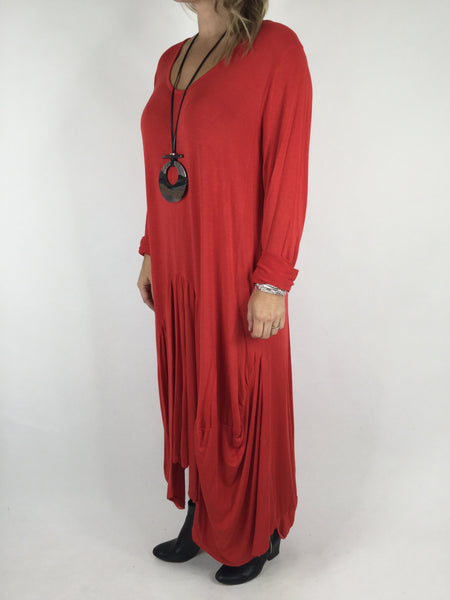 Lagenlook Misha Long Sleeve Jersey in Red. code 98731