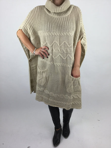 Lagenlook Lilly Chunky Knit in Cream. code 17100