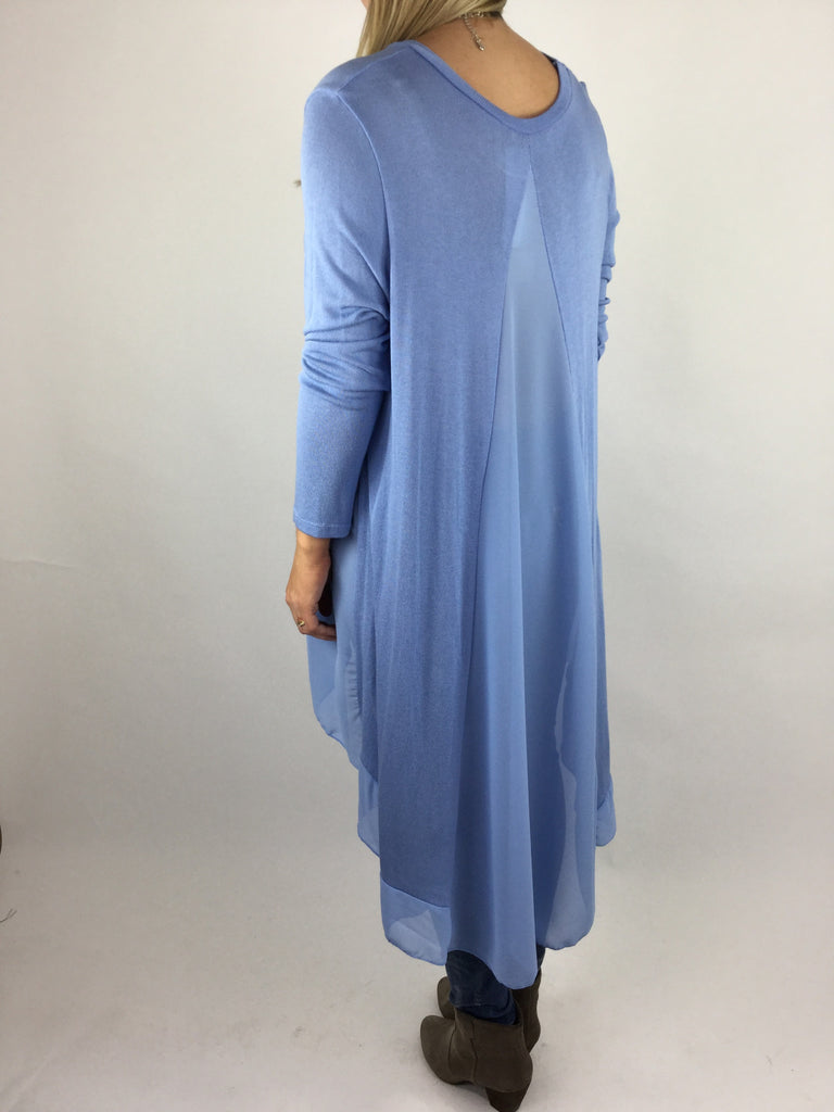 Lagenlook Lauren Back Split Tunic in Corn Blue. code code 4183