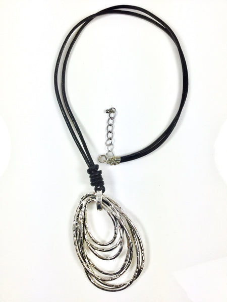Lagenlook Abstract Gathered Necklace . code EN12493