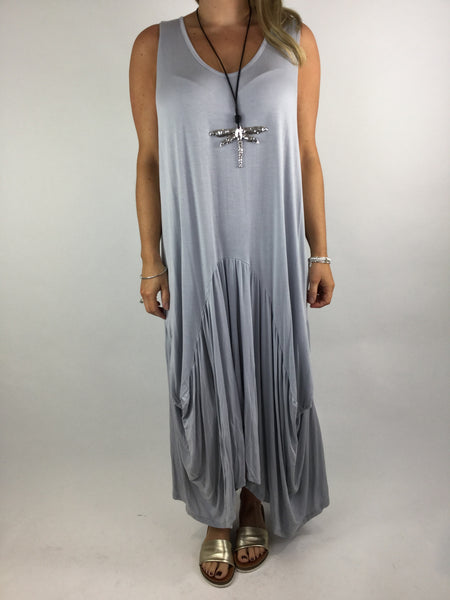 Lagenlook Molly Jersey Essential in Light grey. code 9873