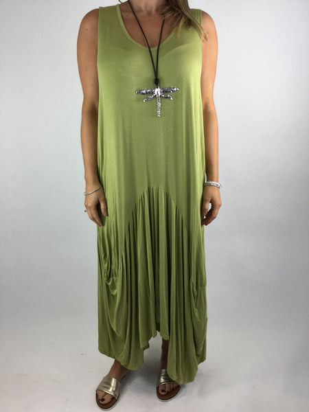 Lagenlook Molly Jersey Essential in Lime. code 9873