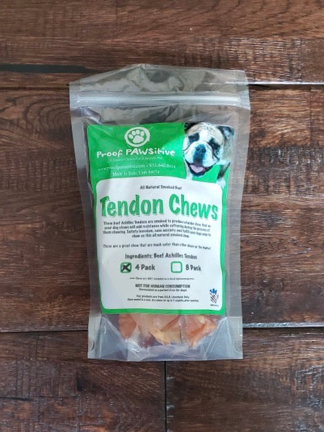 "Beef Achilles ""Tendon Chews"" 4-Pack"