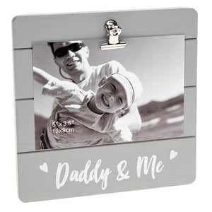 Daddy and Me Clip Photo Frame