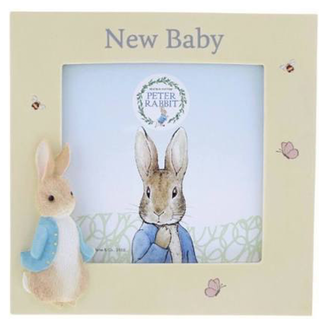 Peter Rabbit Photo Frame - New Baby