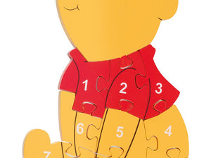 Orange Tree Winnie the Pooh Number Puzzle
