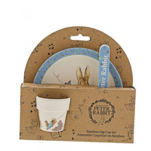 Load image into Gallery viewer, Peter Rabbit Bamboo Egg Cup Dinner Set