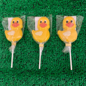 Luxury White Chocolate Easter Swimming Duck lollypops