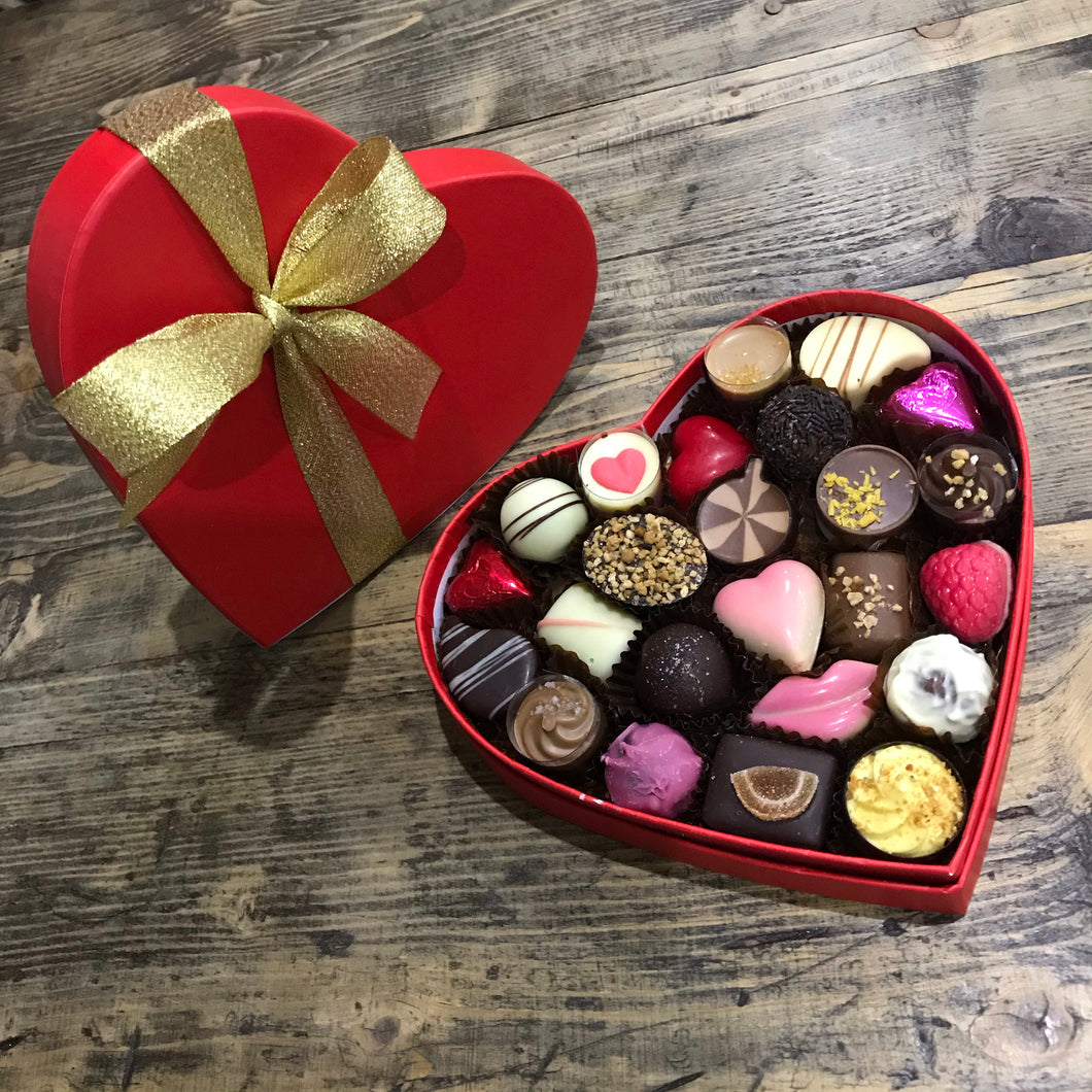 Heart shaped box of Belgian Chocolates