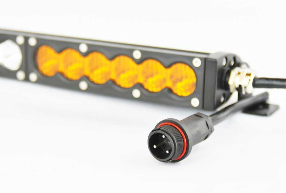 "Extreme LED X6S Slim Series 2D Amber White 25"" Single Row Light Bar"