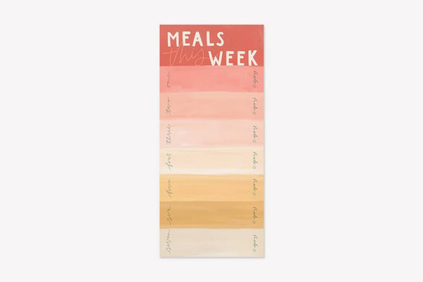 "1Canoe2 ""Meals This Week"" Menu Notepad"