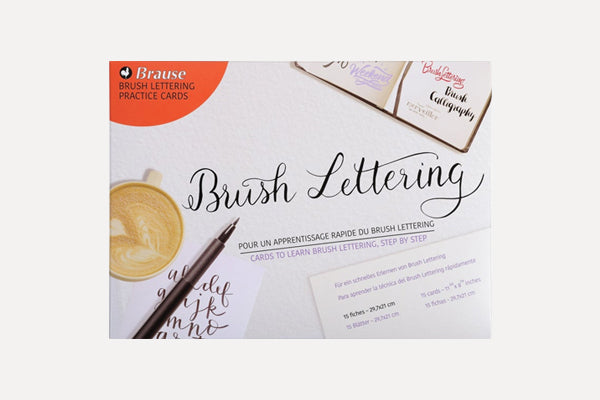 BRAUSE Introduction to Brush Lettering Practice Cards