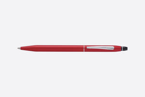 Cross Click ballpoint pen in Crimson with a matte red finish