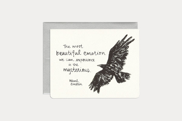 GOTAMAGO Greeting Card - Mysterious Raven
