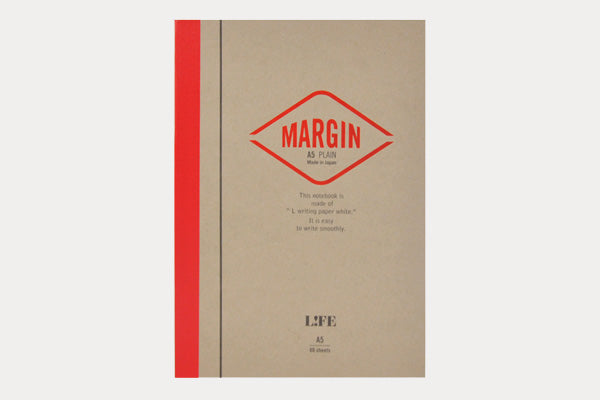 LIFE STATIONERY Margin (A5) Notebook - Blank