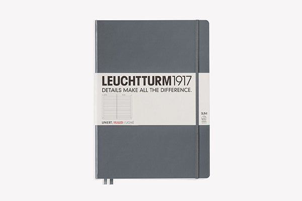 LEUCHTTURM1917 Master (A4+) Slim Hardcover Notebook - Lined