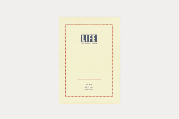 LIFE STATIONERY Vermillion Notebook (A5) - Lined (N74)